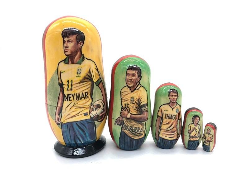 "Matrioshka ""Neymar"", 5 piezas"