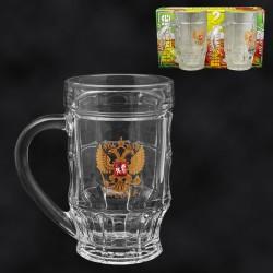 """Jarras de cerveza """"Rusia"""" (2ud.) 500 ml"""