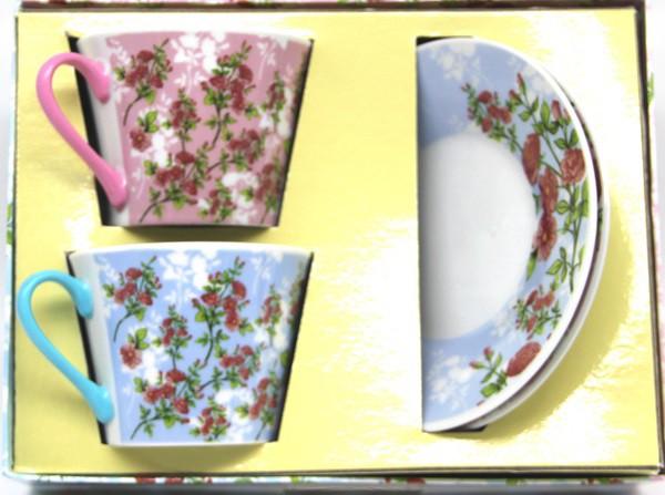 Juego de café Sakura 2 tazas + 2 platillos