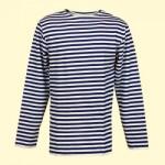 Camiseta marinera de invierno, algodón