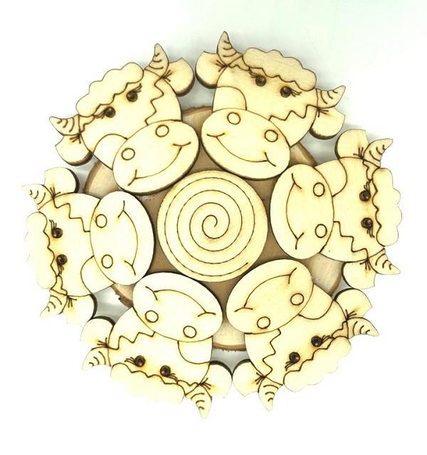 """Soporte de enebro """"Toros"""", 12 cm"""