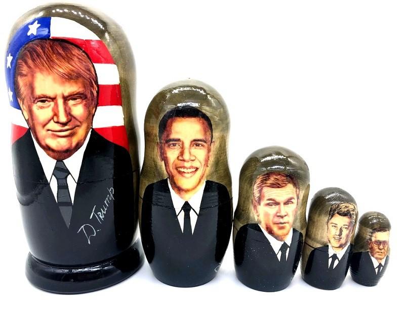 "Matrioshka ""Presidentes americanos"", 11 cm"