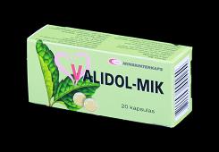 Validol, 20 capsulas de 0.06g