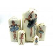 """Muñeca rusa """"Ballet"""" 5 piezas, 20 cm."""