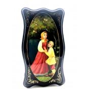 "Caja lacada  ""Hermanita Aluenushka"", 13*24 cm."
