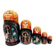 """Matrioska """"Cuentos rusos"""" 5 piezas"""