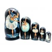Matrioska  Ballet, 5 piezas. 20 cm