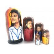 "Matryoshka ""Michael Jackson, 5 piezas"