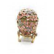 Caja Faberge, trebol rosa, 10 cm