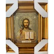 Icono del Pantocrátor 16 * 18 cm, estampado dorado