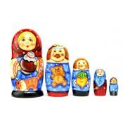 """Matrioska """"Familia"""", 5 piezas"""