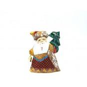 Papa Noel de madera, 15 cm