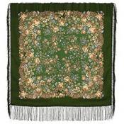 Cha de lana con flecos de seda, 89*89 cm