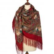 """Mantones de lana con flecos de seda """"Tarde en la finca"""", 146 * 146 cm"""