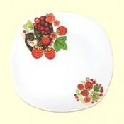 """Porción platos """"Khokhloma"""", 3 piezas"""