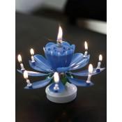 """Vela musical """"Feliz cumpleaños"""", azul"""
