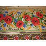 Mantel de mesa Amapolas, lino 120*150 cm