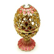 Huevo Faberge con el  Kremlin en interior, 14 cm