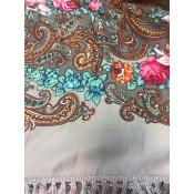 Chal con flecos de seda, 125*125 cm