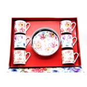 Juego de té 6 tazas + 6 platos