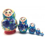 "Muñeca rusa ""Azul*roja, 5 piezas, 13 cm"