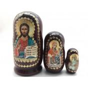 "Matrioshka Religión ""Jesucristo"", 3 piezas"