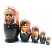 Matrioska Putin, 5 piezas