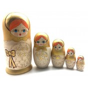 Matrioshka color oro, 16 cm