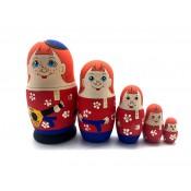 "Muñeca rusa ""Chicos"", 5 piezas, 10 cm"