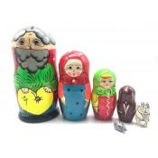 Matrioska Cuentos rusos Repka, 6 piezas