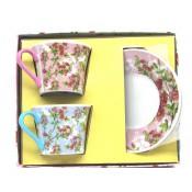 """Set para té """"Sakura"""" 2 tazas + 2 platillos"""