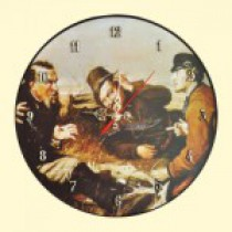 """El reloj de pared """"Cazadores en descanso"""", D- 29 cm"""