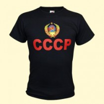 """Camiseta negra """"СССР"""""""