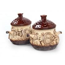 Ollas de ceramica, para hornear, 2 unid