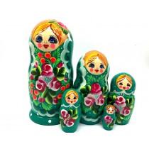 "Matrioska ""Verde"" 5 piezas"
