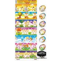 """Pegatinas de Pascua """"Angelitos"""" para 7 huevos"""