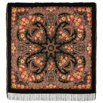"""Pañuelo de lana con flecos de seda """"Ladoga"""", 146 * 146 cm."""