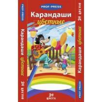 """Lápices de colores, 24 colores """"Lobo y conejo!"""""""