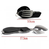 Juego de picnic plegable (cuchillo, tenedor, cuchara)