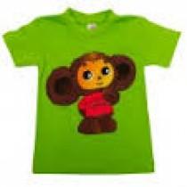 "Camiseta ""Cheburashka"" verde"