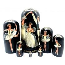 """Muñeca rusa """"Ballet """" 7 piezas. 22 cm"""