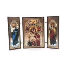 """Icono triptico"""" La dignidad de la Virgen"""", 8*13 cm"""