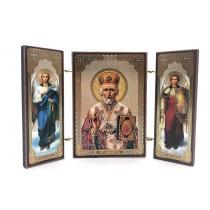 """Icono triptico"""" San Nicolas"""", 8*13 cm"""