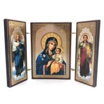 """Ícono """"Virgen del color sin desaparecer"""", 8 * 13 cm."""
