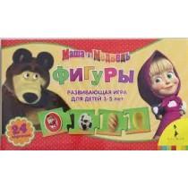 Маша и медведь. Фигуры. Развивающая игра для детей 3-5 лет
