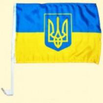 """Banderin del coche """"Ucrania"""" 30х45 cm"""