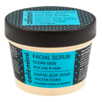 Exfoliante facial Café Mini, arcilla azul y salvia, 110ml