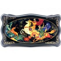 """Caja lacada """"La serna de oro"""", 13*24 cm."""