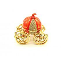 El carrose - caja de Fabergé, color naranja.