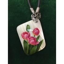 "Colgante ""Tulipanes"", nácar"
